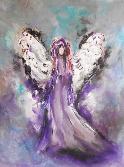 Angel Figura Acrílico Lienzo