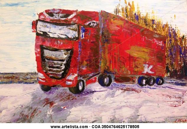 DAF truck Lienzo Acrílico Figura