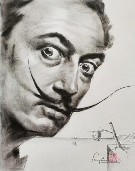 Drawing- Valentine's day  Retrato Lápiz (Negro) Papel