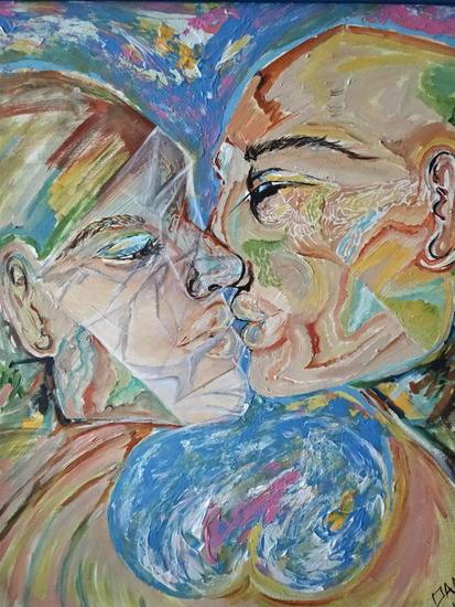 La plastificaciòn del amor Acrílico Lienzo Figura