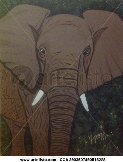 Elefante Lienzo Acrílico Animales