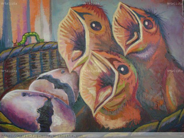 Los tres poderes del estado de  Honduras Óleo Lienzo Animales