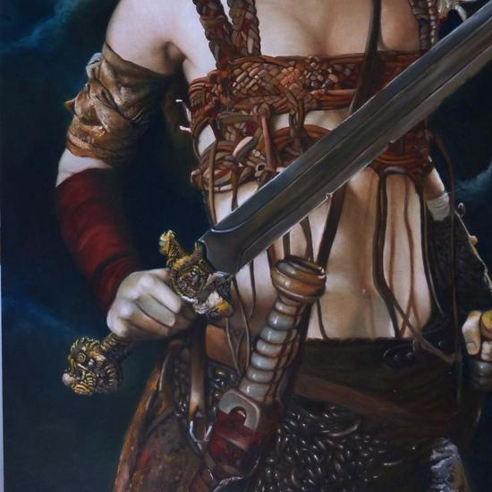 Dama medieval (Detalle) Lienzo Óleo Figura