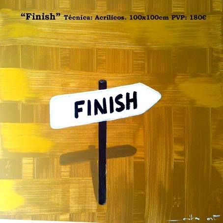 Finish Media Mixta Lienzo Paisaje