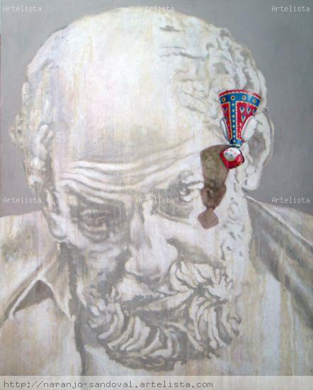 SERIE CABEZAS CLACICAS III Canvas Mixed media Portrait