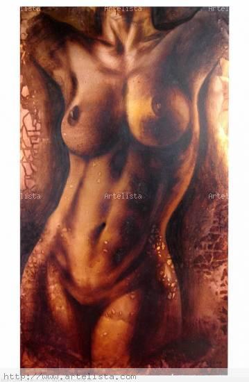 ESTUDIO III Panel Industrial Nude Paintings