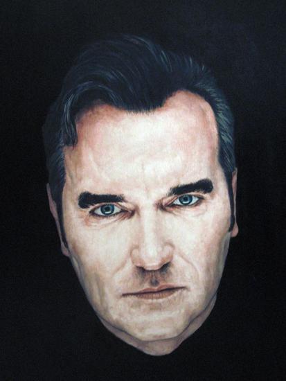 morrissey Canvas Oil Portrait