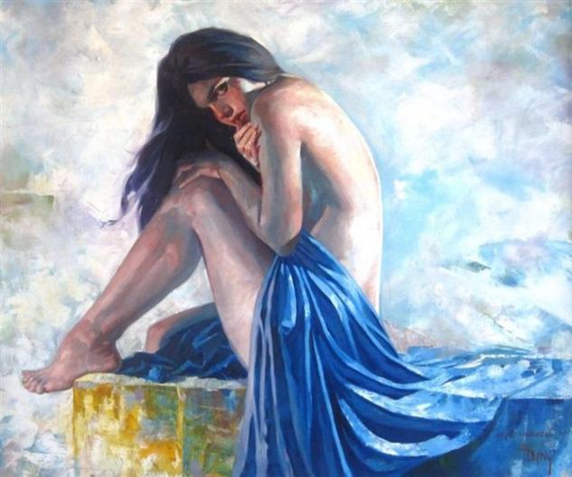 Mujer II Retrato Óleo Lienzo