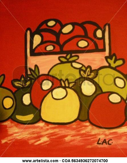 Recogida de frutas Lienzo Acrílico Bodegones
