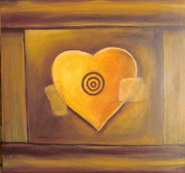 corazon Acrílico Lienzo Otros