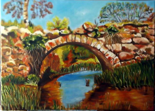 Puente romano Lienzo Óleo Paisaje