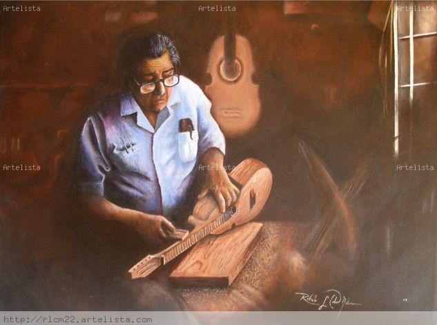 Artesano puertorriqueño Lienzo Acrílico Retrato
