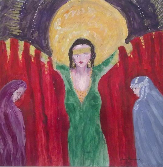 Odilon Redon y las princesas de Samarkanda Cartulina Acrílico Figura