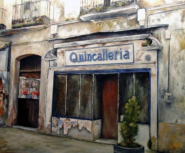 La Quincallería Landscaping Oil Canvas