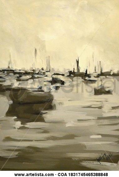 marina Cartulina Óleo Marina
