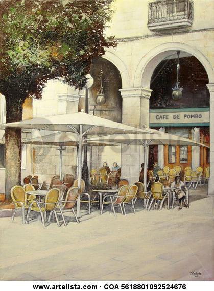 café de Pombo-Santander Lienzo Óleo Paisaje