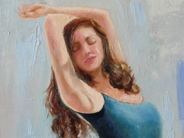 El arte de bailar bajo la lluvia, detalle Figura Óleo Lienzo