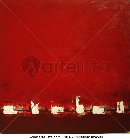 Rojo I Lienzo Acrílico Otros