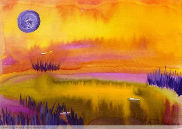paisaje calido Acrylic Paper Landscaping