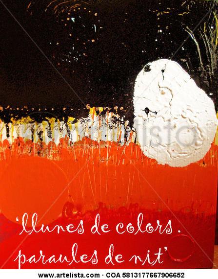 Llunes de colors. Paraules de nit (Lunas de colores. Palabras de noche)) Lienzo Otros Otros
