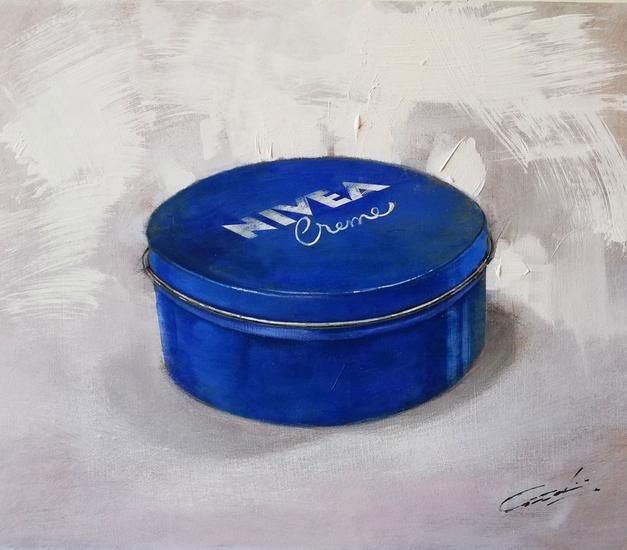 El bote azul Bodegones Óleo Tabla