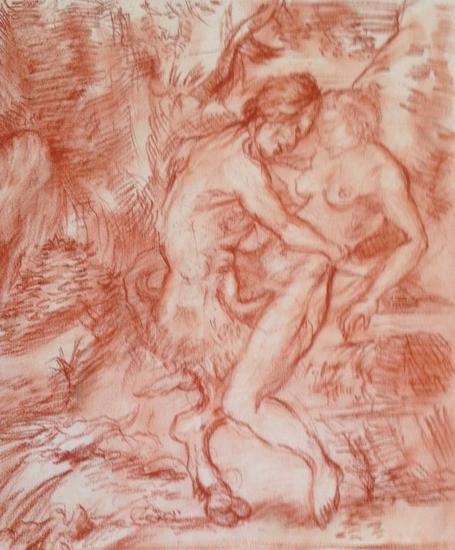 Fauno e Selene/ estudios del antiguo Sanguine