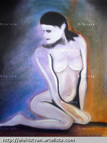 Woman akt Desnudos Pastel Papel