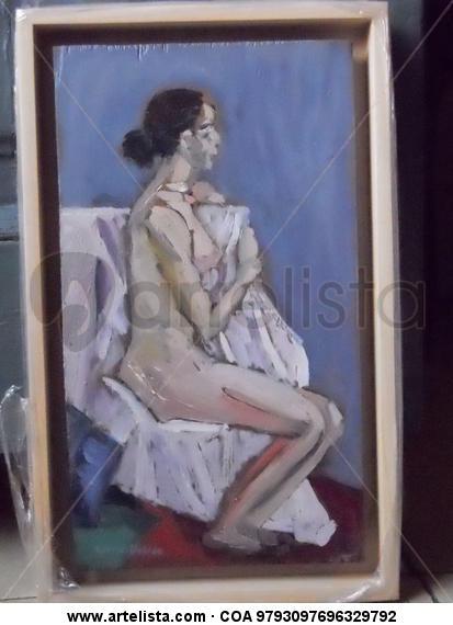 Dona Panel Figure Painting Oil