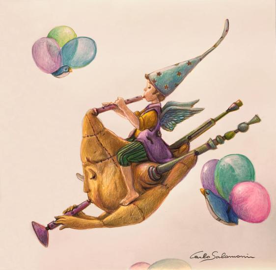 La magica Cornamusa Volante Lápiz