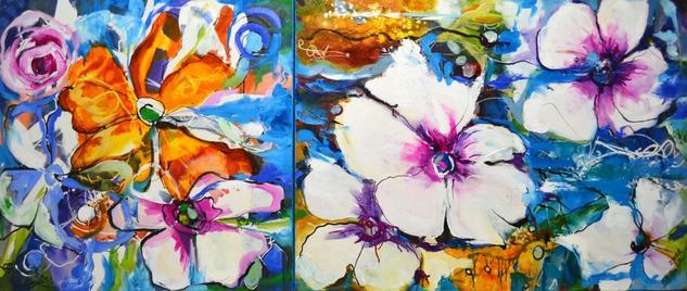 colorful spring, Bissinger Floral Óleo Lienzo
