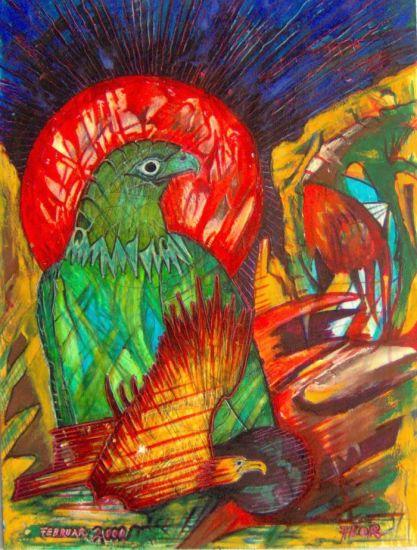 Adler ist gelandet Acrílico Papel Animales