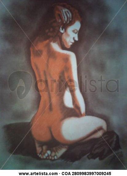La manta Papel Pastel Desnudos