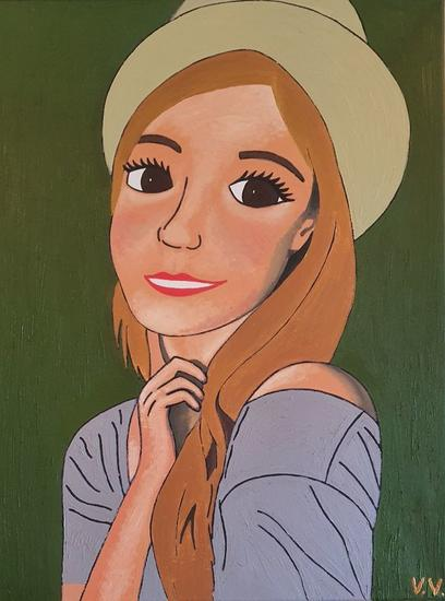 Emma Watson Retrato Óleo Lienzo