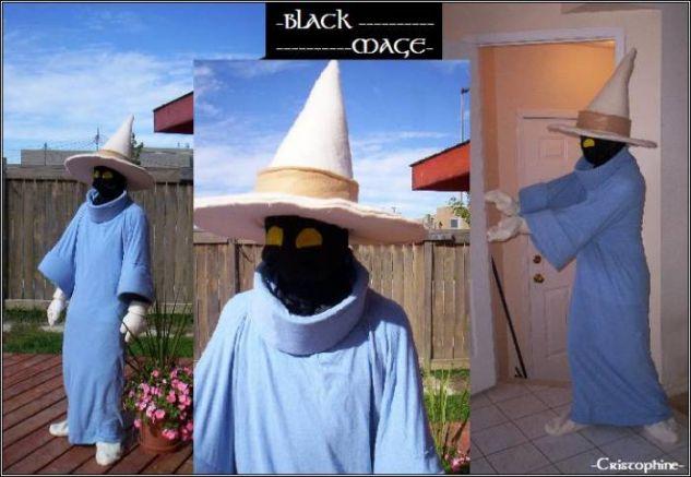 Black Mage costume Textil Modistería y Patronaje