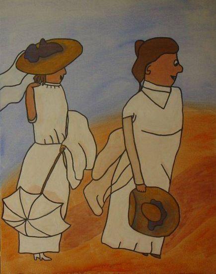Mujeres en la playa (Sorolla) Acrílico Lienzo Figura