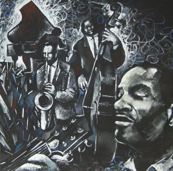gargots jazz Canvas Figure Painting Acrylic
