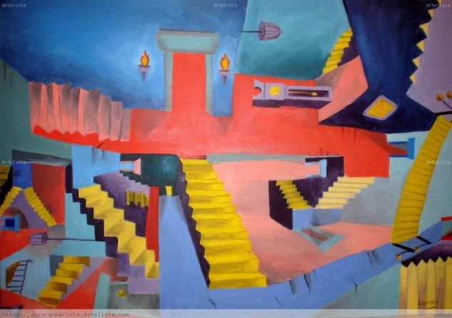 Sin serpientes pero con escaleras mariela laurora for Escalera pintor
