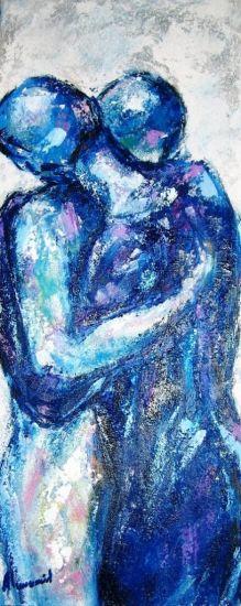 abrazo azul