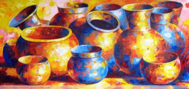 tinajas precolombinas Oil Canvas Still Life Paintings