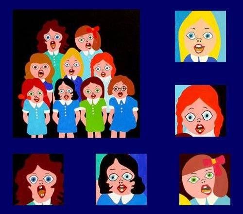 coro de muchachas Acrílico Lienzo Figura