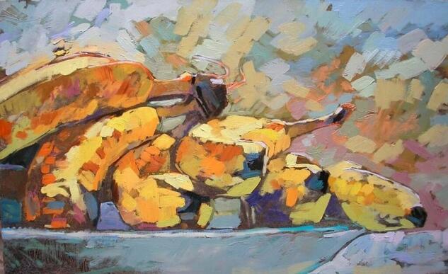 Bananos en Cabrero  Still Life Paintings Oil Canvas