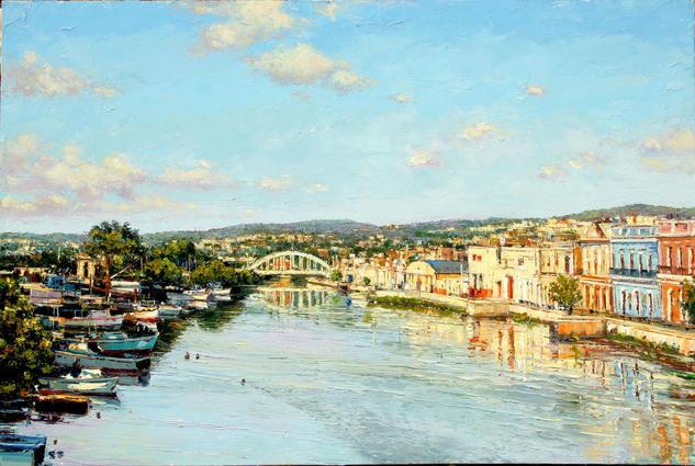 Rio San Juan Paisaje Óleo Lienzo