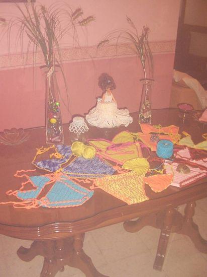 bikinis de hilo acrilico Ropa Textil