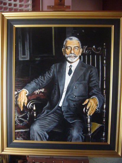 el gran Joaquin Tabla Acrílico Retrato