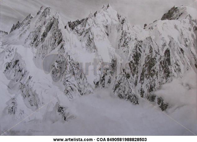 Las Agujas de Chamonix Lápiz