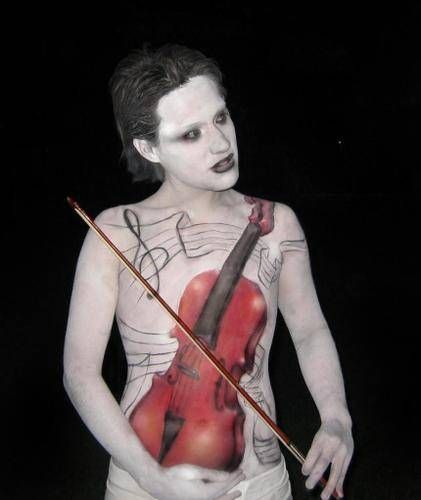 1. Violin Óleo Piel Desnudos