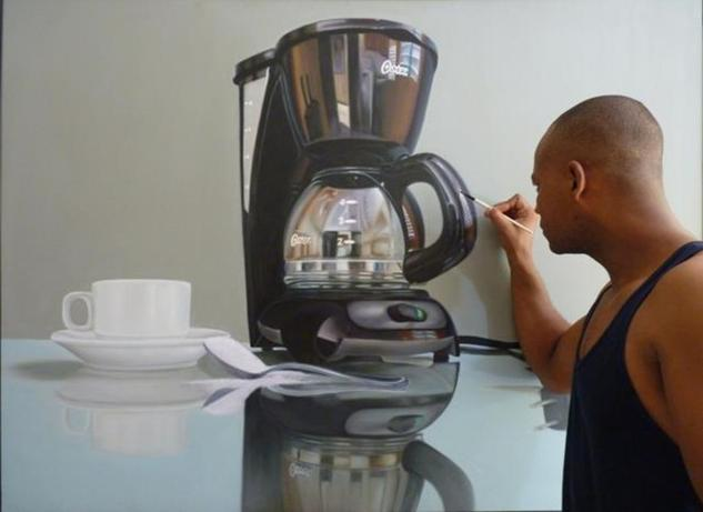 la cafetera Lienzo Óleo Bodegones