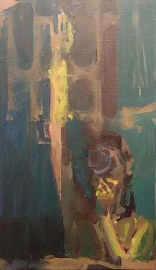 Nigth bath Figure Painting Oil Canvas