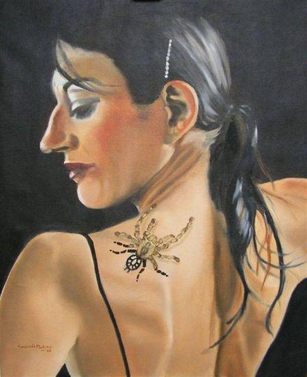 Tattoo Retrato Óleo Tela