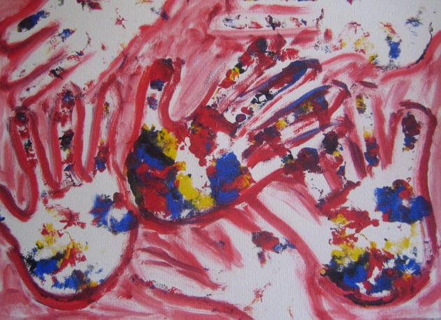 Manos rojas, manos unidas Others Watercolour Card
